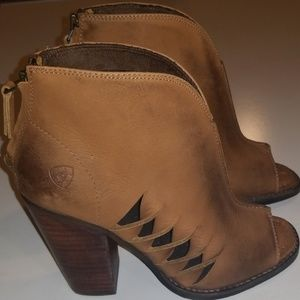 Ariat Lindsley Tan Size 7 Leather Peep Toe